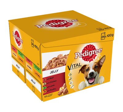 PEDIGREE® Pouches Favourites in Jelly 24x100g