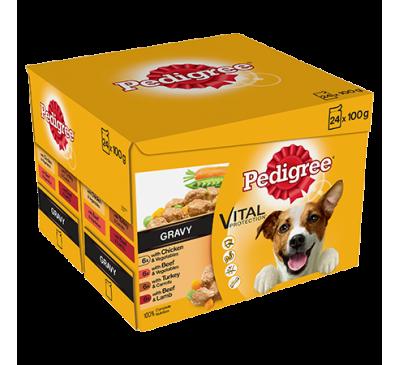 PEDIGREE® Pouches Favourites in Gravy 24x100g