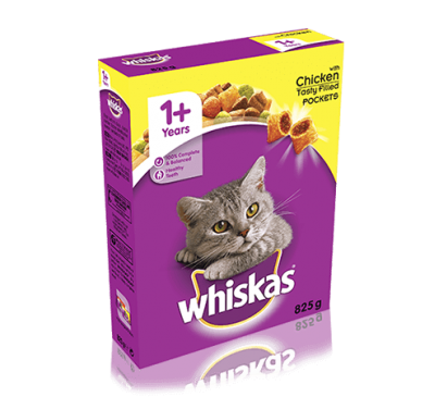 WHISKAS® 1+ Cat Complete Dry with Chicken 825g