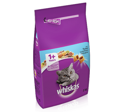 WHISKAS® 1+ Cat Complete Dry with Tuna 2kg