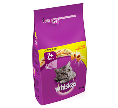 WHISKAS® 7+ Cat Complete Dry with Chicken 1.9kg