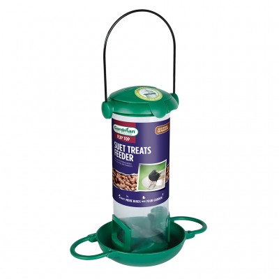 Gardman Flip Top Suet Treat & Mealworm Feeder