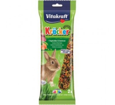 Vitakraft Kräcker Original + Vegetables & Beetroot Rabbit 2pcs